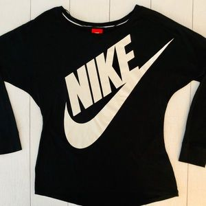 NIKE Long Sleeve Black Shirt